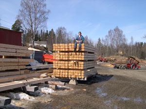 Hvordan skjære en tømmerstokk
